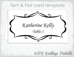 table tent template word table card template wedding place card template free printable word