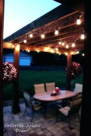 Hanging Patio String Lights Hanging Patio String Lights Outdoor Best Ideas On Lighting How To