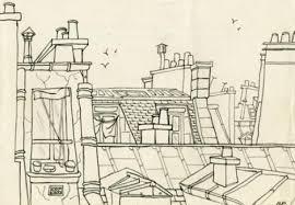 sylvia plath sketch of paris rooftops nickernuts syliva plath