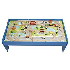 thomas the train wooden track table wood toy train track and city 100pc table set brio and thomas