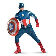 Chip Costume Ebay Mens Captain America Costume Ebay