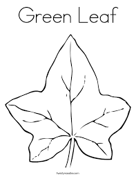 Green Leaf Coloring Page Twisty Noodle Green Coloring Page