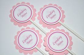 First Communion Cake Decorations 12 Cupcake Toppers Girls U0027s Baptism First Communion So Sweet