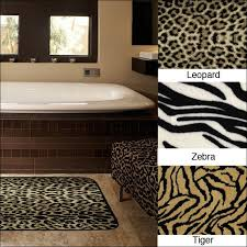 Animal Print Bathroom Ideas Best Leopard Print Bathroom Rugs Homecoach Design Ideas