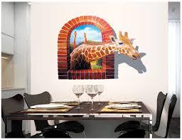 home design 3d remove wall 3d broken wall giraffe scenery household adornment can remove the