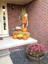 thanksgiving outdoor decorations my simple fall decorations big mums in barrels pumpkins