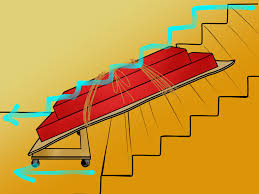 how to move a sofa bed up or down stairs 9 steps with pictures