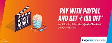 bookmyshow offer bookmyshow offer pay with paypal and 150 rs off amazing earning