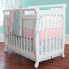 Baby Mini Crib Aqua Haute Baby Mini Crib Bedding Carousel Designs