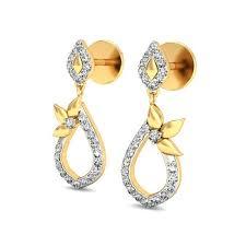 daily wear diamond earrings daily wear earrings designs real certified 0 34 ct gold workwear
