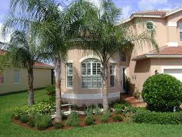 Modern Front Yard Desert Landscaping With Palm Tree And Easy Landscaping Ideas For Small Backyards Planted With Desert