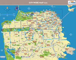 Chinatown San Francisco Map by David Baker Architects 49 Mile Scenic Bike Ride