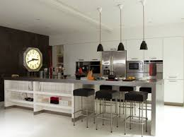 cuisine avec ilot central et table photo cuisine avec table bar idée de modèle de cuisine