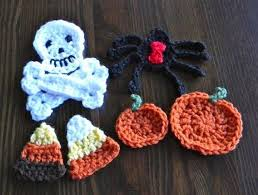 Thanksgiving Appliques Free Pattern For Halloween Crochet Appliques Halloween