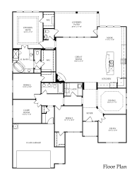 2 Story Great Room Floor Plans by Large One Story Floor Plan Great Layout Love The Flow Through