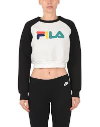 fila heritage coco crop sweater sweatshirt white women jumpers and