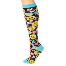 emoji mix print knee high socks s us