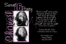 sweet 16 party invitations template best template collection