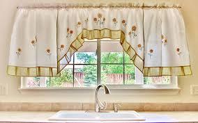 Different Styles Of Kitchen Curtains Decorating Sunflower Kitchen Curtains Window Gorgeous Sunflower Kitchen
