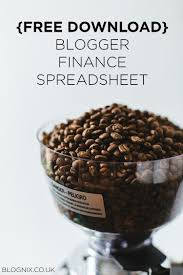 Free Download Spreadsheet Free Download Blogger Finance Spreadsheet Blognix