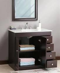 Allen Roth Hagen Espresso Undermount Single Sink BirchPoplar - Small bathroom vanities for small bathrooms