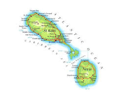 St Kitts Flag Maps Of Saint Kitts And Nevis Detailed Map Of Saint Kitts And