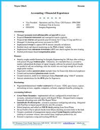 Tax Preparer Job Description Resume by Account Receivable Resume Shows Both Technical And Interpersonal