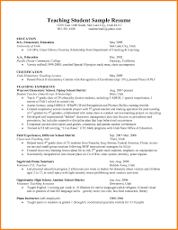 teaching resume template student resume exles free resume templates