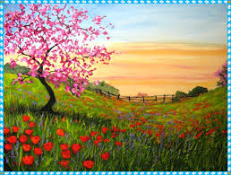 spring painting ideas acrylic paint on canvas ideas home designing