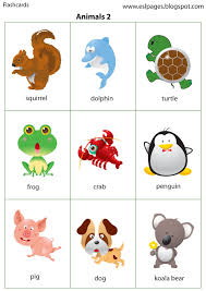 animal sounds printable flash cards for practicing during a road