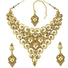 necklace choker design images Buy spargz gold plated synthetic stone chakri design bridal choker jpg