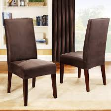 Sure Fit Stretch Leather Dining Room Chair Cover Brown Walmartcom - Covers for dining room chairs