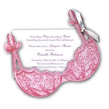 Lingerie Party Invitations Bra Pink Lingerie Shower Invitations Paperstyle