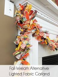 make a lighted fabric garland instead of a wreath this fall it s