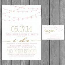 Reception Only Invitations Simple Wedding Invitation Modern Strings Of Lights Engagement