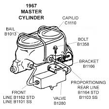 corvette supply 1967 master cylinder diagram view chicago corvette supply
