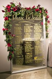 Wedding Seating Signs 43 Creative Mirror Wedding Décor Ideas Weddingomania