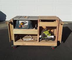 table saw and miter saw cart 6 steps with pictures