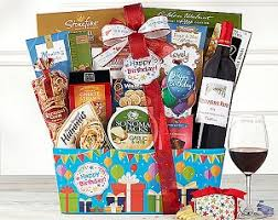 birthday gift basket happy birthday gift baskets birthday collection cabernet wine