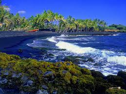 black sand beach punaluu world for travel