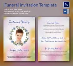 funeral invitation template free sle funeral invitation template 11 documents in word psd