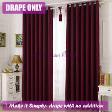 Sheer Maroon Curtains Blockout Maroon Bedroom Door Fabric Drapes Sheer Eyelets Rod
