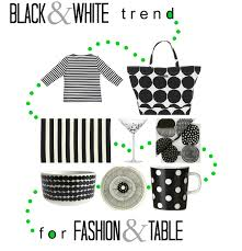 spring 2013 black and white trend for fashion and table
