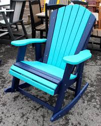 Chair Furniture Amish Outdoor Rocking Poly Adirondack Rocking Chair Amish Traditions Wv