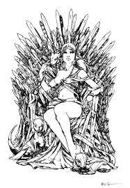 free coloring coloring game throne daenerys targarya