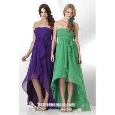 a line bridesmaid dresses 2017 strapless empire waist a line bridesmaid dress with high low