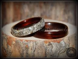 glass wedding rings bentwood kingwood wood wedding rings glass inlay handcrafted