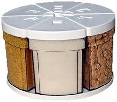 carrousel cuisine caroussel castel s27 6b105 6 boites 105 cl sur plateau tournant