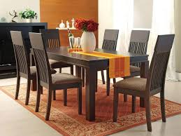acme furniture medora casual 7 piece mission style dining table