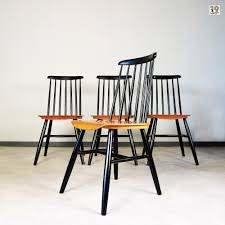 four scandinavian dining chairs from the 1950 u0027s in the manner of